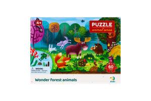 Пазл для детей от 4лет 32х23см №300375 Wonder forest animals Animal series Dodo 60эл