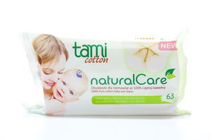 Серветки Tami Natural Care вологі дитячі 63шт