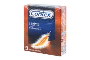 Презервативи латексні з силіконовою змазкою Lights Contex 3шт