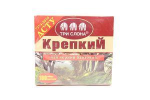 Чай Цейлонський б/нитки чорн байх дрібний крепкий 150г Три слона
