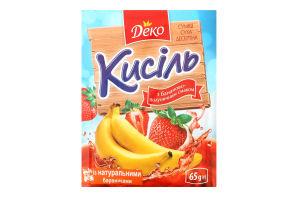 Кисіль з бананово-полуничним смаком Деко м/у 65г