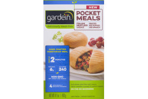 Gardein Pocket Meals Italian Meatless Sausage, Roasted Red Pepper and Spinach