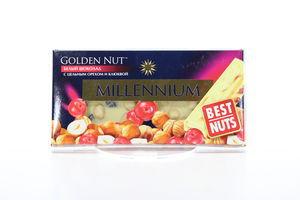Шоколад Millennium Gold білий горіх 90г