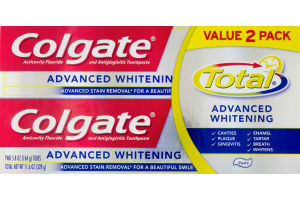 Colgate Total Advanced Whitening Toothpaste - 2 CT