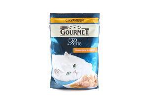 Корм влажный для кошек мини-филе с курицей Perle Gourmet м/у 85г