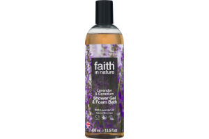 Faith in Nature Lavender & Geranium Shower Gel & Foam Bath