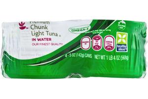 Ahold Premium Chunk Light Tuna in Water - 4 CT