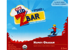 Clif Kid Z Bar Organic Energy Snack Honey Graham - 6 CT