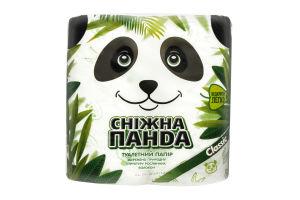 Бумага туалетная 2-x слойная Classic Сніжна панда 4шт