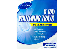 CareOne 5 Day Disposal Dental Whitening Trays - 10 CT