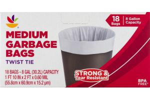 Ahold Medium Garbage Bags Twist Tie - 18 CT