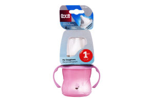 Поильник для детей от 6мес 150мл №35/300 розовый Lovi 1шт