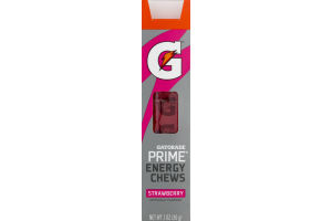 Gatorade Prime Energy Chews Strawberry - 6 CT