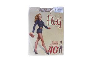 Колготки женские элегантные без шортиков Flirty 40den 3 бежевые