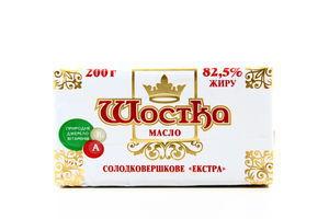 Масло Шостка сладкосливочное экстра 82,5% 200г