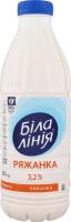 Ряженка 3.2% Біла Лінія п/бут 840г