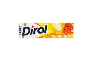 Резинка жевательная без сахара Арбуз-дыня коктейль Dirol м/у 14г