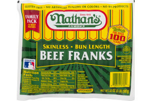 Nathan's Skinless Franks Beef - 16 CT