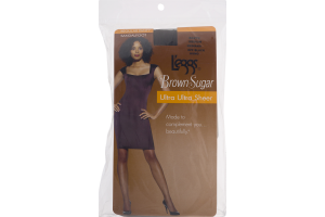 L'eggs Brown Sugar Ultra Ultra Sheer Regular Panty Sandalfoot Off Black Medium