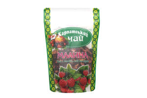 Чай из плодов, ягод и трав Малина Карпатский чай м/у 100г