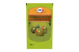 Оливки Повна Чаша зеленые фарширов перцем дой-пак