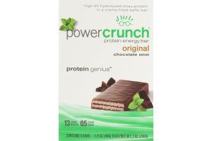 Power Crunch Protein Energy Bar Original Chocolate Mint - 5 CT