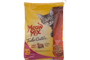 Meow Mix Tender Centers Cat Food Salmon & White Meat Chicken Flavors