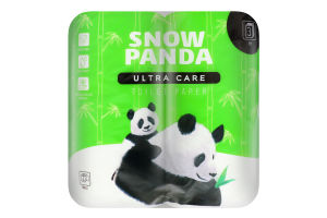 Папір туалетний 3-шаровий Ultra Care Snow Panda 4шт