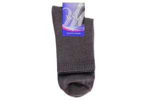 Шкарпетки Легка хода чоловічі темно-сірий 6338 45-46
