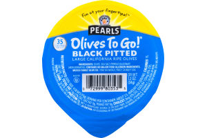 Pearls Olives To Go! Black Pitted California Ripe Olives Large