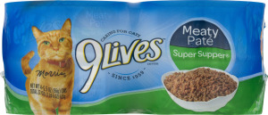 9Lives Cat Food Meaty Pate Super Supper