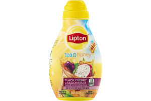 Lipton Tea & Honey Liquid Iced Black Tea Mix Black Cherry Dragonfruit
