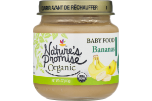 Nature's Promise Organic Baby Food Bananas 6m+