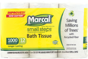 Marcal Small Steps Bath Tissue - 12 CT