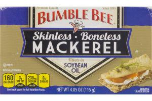Bumble Bee Skinless Boneless Mackerel Fillets in Soybean Oil
