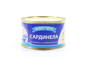 Сардинелла натуральная с добалением масла Аквамарин ж/б 230г