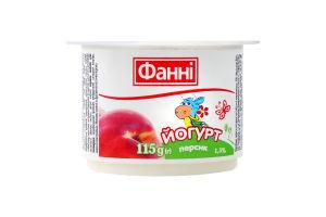 Йогурт 1.5% Персик Фанні ст 115г
