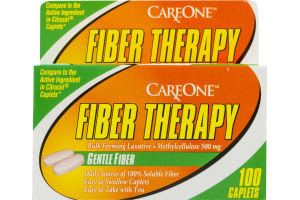 CareOne Fiber Therapy Caplets - 100 CT