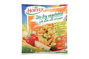 Овочі заморожені для смаження з травами і стручковим перцем Hortex м/у 400г