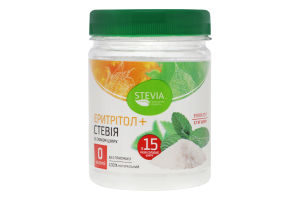 Добавка дієтична Стевія+ерітрітол Stevia п/б 180г