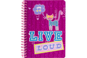 Top Flight Live Loud Notebook College Rule - 100 Sheets