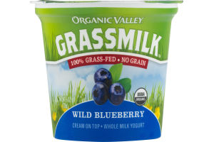 Organic Valley Grassmilk Cream On Top - Whole Milk Yogurt Wild Blueberry