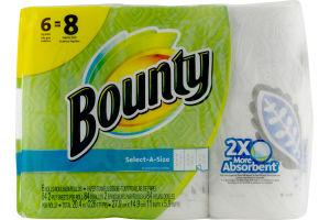 Bounty Select-A-Size Paper Towels Big Rolls - 6 CT