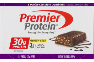 Premier Protein High Protein Bar Double Chocolate Crunch - 6 CT
