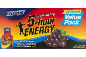 5-Hour Energy Grape - 10 PK