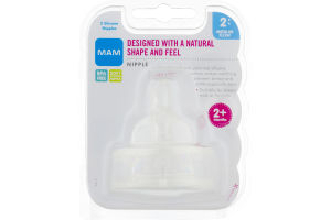 MAM Designed with a Natural Shape and Feel Silicone Nipples - 2 CT