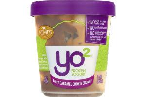 Kemps Yo2 Frozen Yogurt Salty Caramel Cookie Crunch