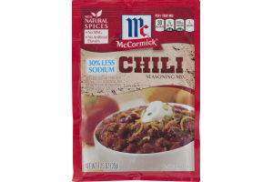 McCormick Chili 30% Less Sodium Seasoning Mix