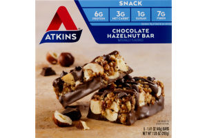Atkins Snack Bars Chocolate Hazelnut - 5 CT
