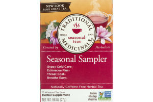 Traditional Medicinals Seasonal Teas Seasonal Sampler Tea Bags - 16 CT